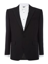 New And Lingwood Marlow Peak Lapel Dinner Suit Jacket Black