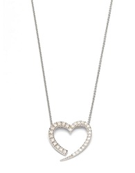 Lord And Taylor Cubic Zirconia Open Heart Pendant Silver