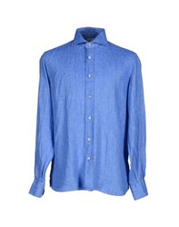Mazzarelli Shirts Shirts Men Azure