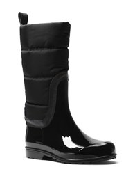 Michael Michael Kors Cabot Quilted Cold Weather Rain Boots Black