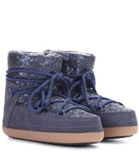 Inuikii Sequin Embellished Ankle Boots Blue