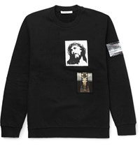 Givenchy Patch Embellished Cotton Jersey Sweatshirt Black