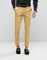 Noose And Monkey Super Skinny Suit Trousers In Metallic Gold