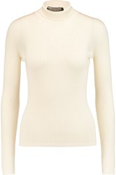 Giambattista Valli Cashmere And Silk Blend Turtleneck Sweater White