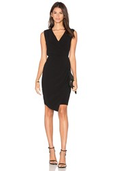 Blaque Label Wrap Dress Black