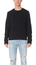 Vince Textured Crew Neck Sweater Coastal