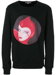 Stella Mccartney Printed Sweatshirt Cotton Polyamide Black