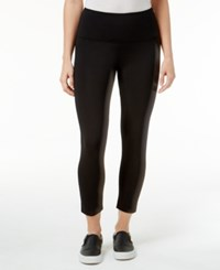 Style And Co Petite Cropped Yoga Leggings Only At Macy's Deep Black