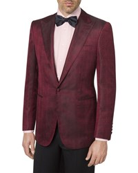 Stefano Ricci Silk Tuxedo Jacket Dark Red