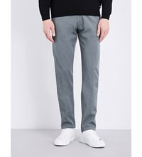 Hugo Boss Tapered Stretch Cotton Chinos Dark Green