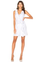 Milly Ruffle Front Dress White