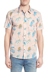 Patagonia Men's 'Go To' Slim Fit Short Sleeve Sport Shirt Feather Pink