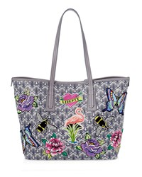 Liberty London Marlborough Iphis All Over Patches Tote Bag Gray