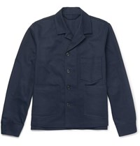 Acne Studios Media Cotton Twill Jacket Navy