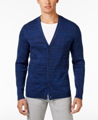 Alfani Men's Cotton Cardigan Only At Macy's Neo Navy