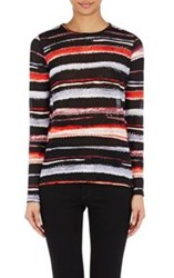 Proenza Schouler Women's Falling Flowers Long Sleeve T Shirt Red Size