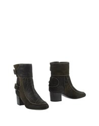 Laurence Dacade Ankle Boots Military Green