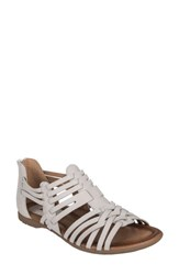 Earth 'S Bonfire Strappy Sandal Off White Leather