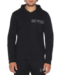 Fendi Monster Eyes Zip Front Hoodie Black