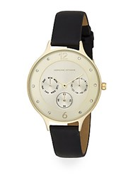 Adrienne Vittadini Sport Sports Chronograph Watch Gold Black