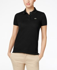 Lacoste Two Button Classic Fit Polo Black