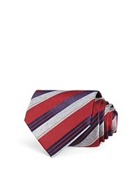 Bloomingdale's The Men's Store At Woven Stripe Classic Tie 100 Exclusive Burgundy