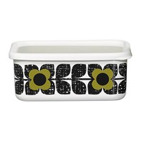 Orla Kiely Enamel Scribble Square Flower Storage Container Large Seagrass