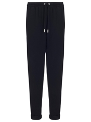 Whistles Helena Crepe Sweat Pants Black