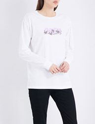 Obey Overgrown Cotton Jersey Top White