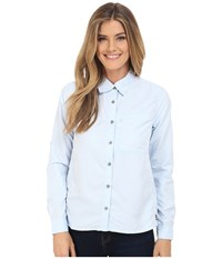 Mountain Hardwear Canyon Long Sleeve Shirt Frosted Blue Women's Long Sleeve Button Up