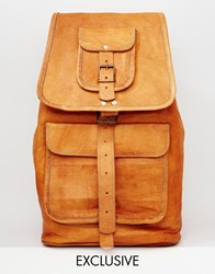 Reclaimed Vintage Leather Backpack Tan