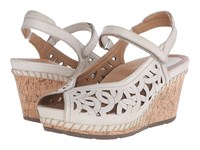 Earth Aquarius Off White Leather Women's Wedge Shoes Beige