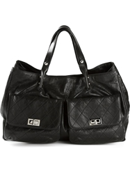 Chanel Front Pockets Tote Black