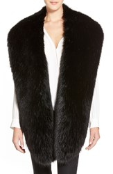Badgley Mischka Faux Mink Wrap Black
