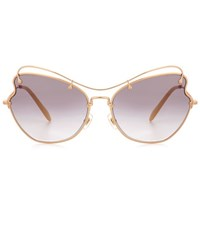Miu Miu Scenique Round Sunglasses Grey