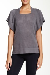 Lole Mullai Short Sleeve Silk Blend Tee Gray