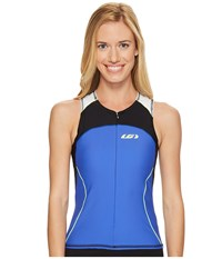 Louis Garneau Women Comp Sleeveless Black Dazzling Blue Bright Yellow Women's Sleeveless