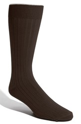 Men's Big And Tall Nordstrom Cotton Blend Socks Brown