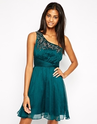 Little Mistress One Shoulder Prom Dress With Embellishment Forest