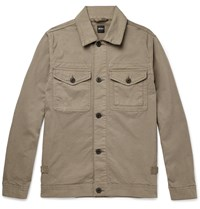 Albam Cotton Twill Jacket Brown