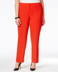Kasper Plus Size Kristy Trousers Paprika