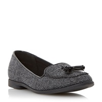 Head Over Heels Georja Tassel Detail Loafers Grey