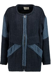 Iro Drystan Two Tone Matelasse Coat Blue