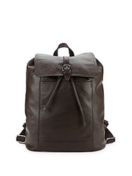 Cole Haan Flap Leather Backpack Java