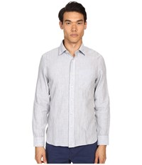 Jack Spade Grant Point Collar Double Face Chambray Grey Men's Long Sleeve Button Up Gray