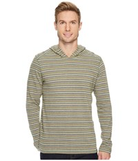 Prana Dweller Long Sleeve Pullover Hoodie Juniper Sweatshirt Green