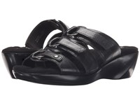 Walking Cradles Cast Black Leather Women's Sandals