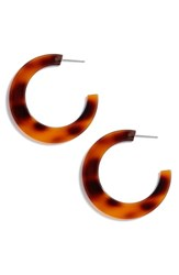 Leith Resin Hoop Earrings Natural
