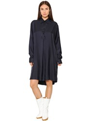 Maison Martin Margiela Oversized Silk Twill Shirt Dress