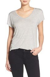 Trouve Women's Trouve Relaxed Fit Shirttail Tee Grey Heather